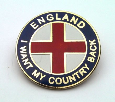 """I Want My Country Back"" England Badge - Blue"